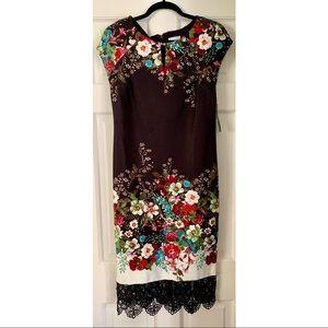 New York & Company black floral dress